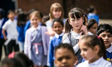 Schoolchildren in Leyton, east London