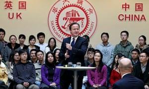David Cameron in Shanghai