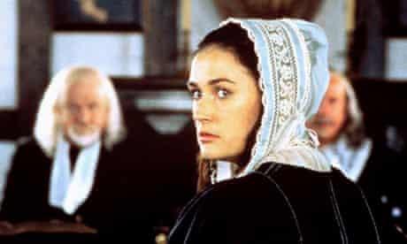 Scene from The Scarlet Letter, 1995, starring Demi Moore