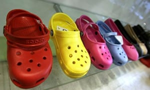 Crocs shoes on display in New York. Blackstone Group's investment will give it a 13% stake in the US