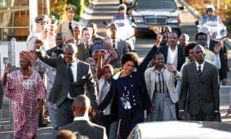 Mandela: Long Walk to Freedom. Scene with Idris Elba and Naomie Harris as Nelson and Winnie Mandela