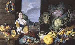 Cookmaid With Still Life Of Vegetables And Fruit