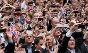 Spectators at the London 2012 Olympics closing ceremony