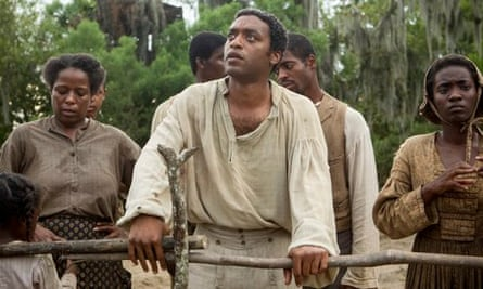 Chiwetel Ejiofor as Solomon Northrup in a scene from 12 Years A Slave.