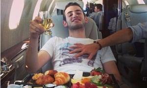 rich kid on plane