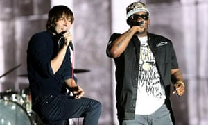 R Kelly guests with Thomas Mars of Phoenix at the 2013 Coachella festival.
