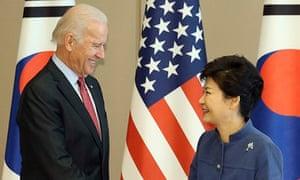 US Vice President Joe Biden visits South Korea