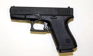 Weapon of amok gunman - Glock 19 gun