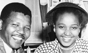 Nelson and Winnie Mandela in 1958