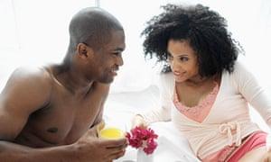 couple in bed breakfast