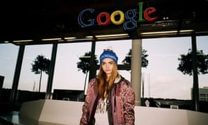 Cara Delevingne poses for Topshop and Google's collaboration