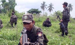 Muslim separatist rebels from the MILF