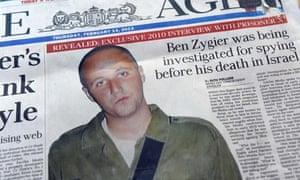 Australian newspaper leads with Ben Zygier