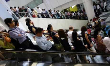 Singapore commuters