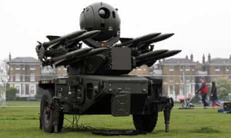 Rapier missile system, London