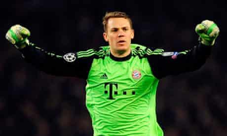 Manuel Neuer, Arsenal v Bayern Munich, Champions League, 19 Feb 2013
