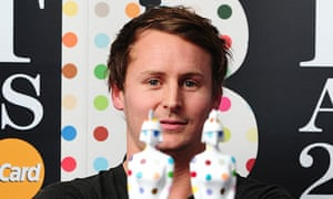 Ben Howard with his Brit awards