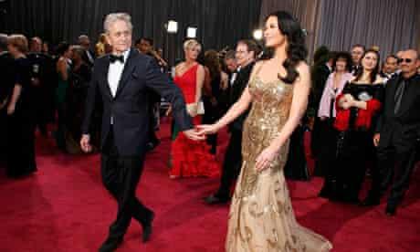 Michael Douglas leads his wife actress Catherine Zeta