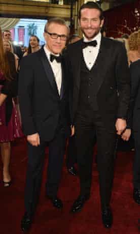 ctors Christoph Waltz (L) and Bradley Cooper