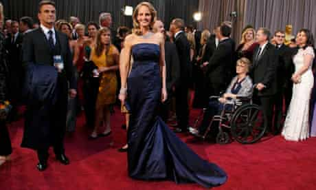 """Helen Hunt for for her role in """"The Sessions,"""" arrives at the 85th Academy Awards in Hollywood"""