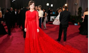 Sally Field … lady in red.