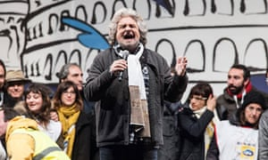 Beppe Grillo, leader of the 'Movimento 5 Stelle'