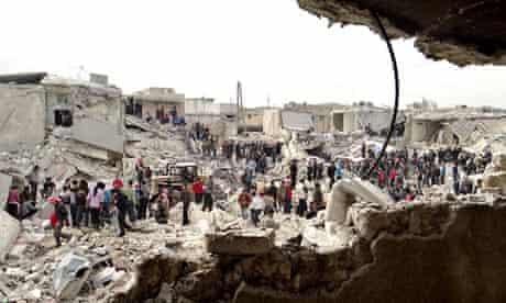 Aleppo missile strikes