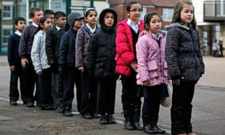 Children, from Afghanistan, Pakistan, Portugal, Lithuania & Slovakia in the playground.