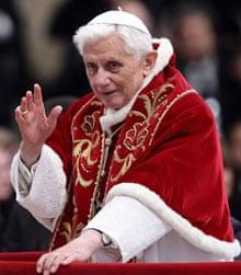 His holiness rocks that fur-lined winter mozetta.