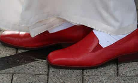 The controversial but ultimately triumphant papal red slipons.