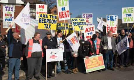 Bedroom tax protest, Bootle, Merseyside