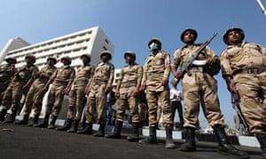 Egptian police strike