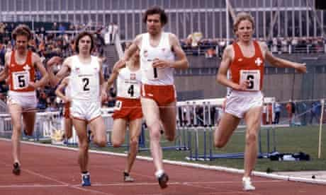 Fast and furious … Brendan Foster at Crystal Palace in 1979.