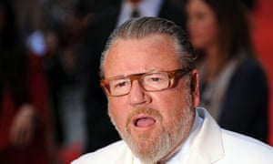 He's had enough of us … Ray Winstone.