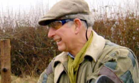 Prince Charles wearing his patched jacket on Countryfile.
