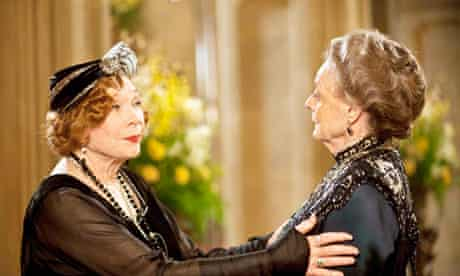 Downton Abbey … Shirley Maclaine as Martha Levinson and Maggie Smith as Dowager Countess of Grantham