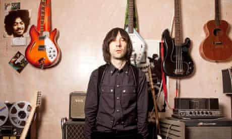 Bobby Gillespie from Primal Scream, in the ban'ds studio in Primrose Hill, London