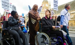 Disabled rights protest