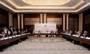 Syrian opposition leaders at a summit in Istanbu, to choose a leader for rebel-controlled areas.