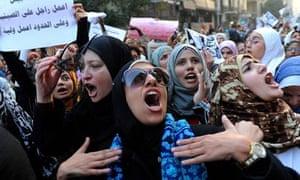 Egypt's women protest against violence