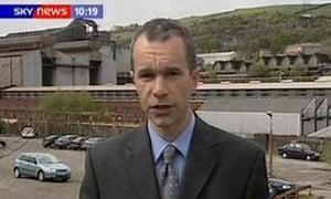 Sky TV correspondent Gerard Tubb