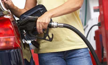 Motorist at petrol Ssation