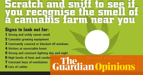 Scratch and sniff cannabis leaflets? Smells like a nice gimmick ...