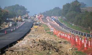 Roadworks on the A21