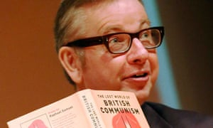 Michael Gove with book on Communism