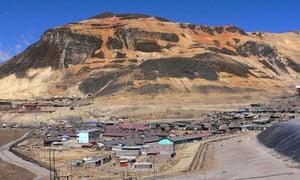 Chinalco in Morococha, central Peru.