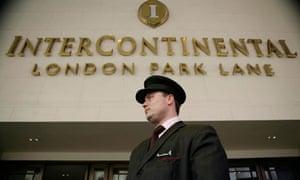 Intercontinental Hotel on Park Lane, London.