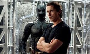 Christian Bale with Batman suit