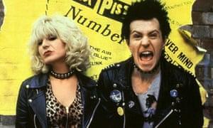 Chloe Webb and Gary Oldman in the film Sid and Nancy