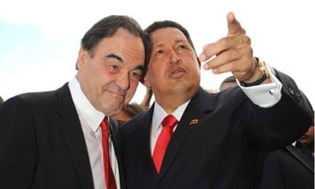 Oliver Stone with Hugo Chavez